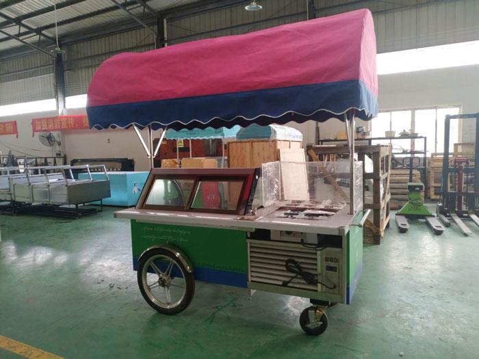 Gelato Ice Cream cart B4-2000 / Ready for Europe